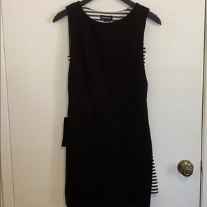 NWT Bebe 2-Fer Double Length Dress in Size XXS